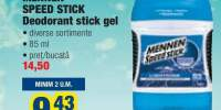 Mennen Speed Stick deodorant stick gel