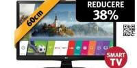 Televizor LED Smart High Definition, 60cm, LG 24MT49S