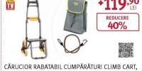 Carucior rabatabil pentru cumparaturi MEDIASHOP Climb Cart, 6 roti
