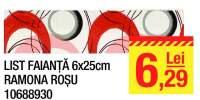 List faianta Ramona rosu