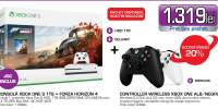 Consola MICROSOFT Xbox One S 1TB, alb + joc Forza Horizon 4 (cod download)