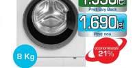 Masina de spalat rufe frontala GRUNDIG GWN48430, 8Kg, 1400rpm, A+++, alb