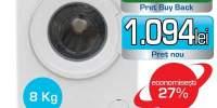 Masina de spalat rufe frontala SHARP ES-HFB8143W3E, 8kg, 1400rpm, A+++, alb