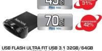 Memorie portabila SANDISK Ultra Fit SDCZ430-064G-G46, 64GB, USB 3.1, negru