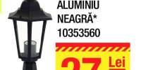 Baliza aluminiu neagra