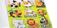 Natural Puzzle Animal Puzzle din lemn cu animale
