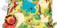Natural Puzzle Animal-sound Puzzle din lemn cu sunete
