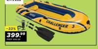 Set barca pentru trei persoane Intex Challenger 3
