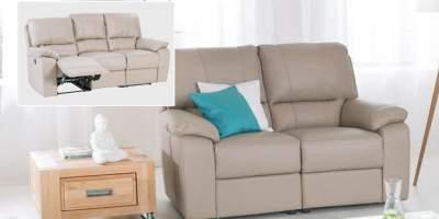 Canapea din piele 2 locuri Lucy