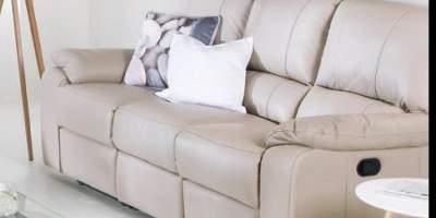 Canapea din piele 3 locuri Lucy
