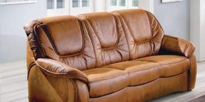 Canapea din piele 3 locuri Delmondo