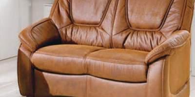 Canapea din piele 2 locuri Delmondo