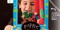 Puppet Teatro Teatru portabil din lemn