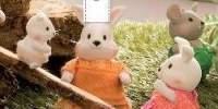 Camomille Hoppingoods Rabbit Family Animalute Camomille familie iepurasi