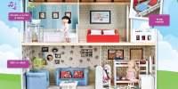 Amanda Family Maison Casa de papusi din lemn