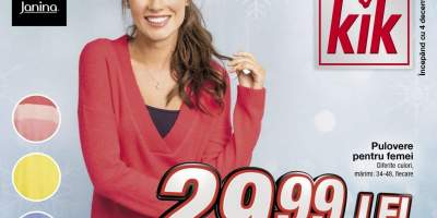 Pulover colorat  cu decolteu pentru femei