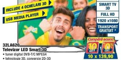 32LA620 Televizor Led Smart 3D LG