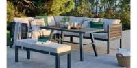Set lounge gradina Rio - coltar, masuta si banca