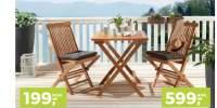 Set mobilier pliabil din lemn pentru exterior Trogir