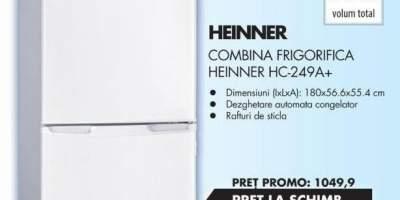 Combina frigorifica Heinner HC-249A+