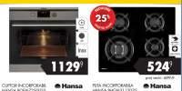 25% reducere la plita Hansa achizitionate impreuna cu orice cuptor incorporabil Hansa