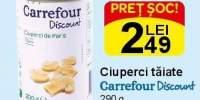 Ciuperci taiate Carrefour Discount