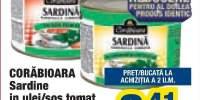Sardine in ulei/sos tomat Corabioara