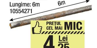 Otel beton 6 milimetri