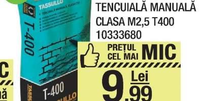 Tencuiala manuala clasa M2.5 T400