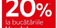 20% reducere la bucatariile Venda