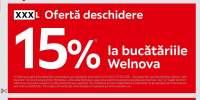 Oferta deschidere XXXLutz:15% reducere la bucatariile Wellnova