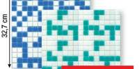 Mozaic sticla pe hartie Susana 32.7x32.7 centimetri