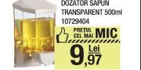 Dozator sapun transparent 500 ml