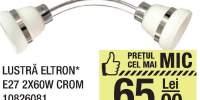 Lustra Eltron E27 2x60W crom