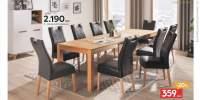 Set dining cu masa extensibila si scaune piele