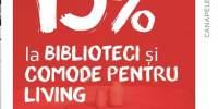 15% reducere la biblioteci si comode pentru living