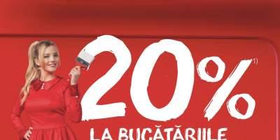 20% reducere la bucatariile Moderano