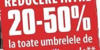 Reducere intre 20-50% la toate umbrelele de soare si pavilioane