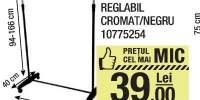 Cuier mobil reglabil cromat negru