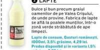 Lapte de consum Gusturi romanesti 3.5% grasime 1 L