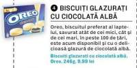 Biscuiti glazurati cu ciocolata alba Oreo