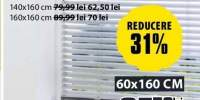 Jaluzea din aluminiu 60x160 centimetri
