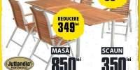 Mobilier de gradina Drammen masa extensibila si 4 scaune