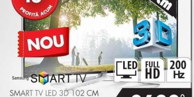 Smart Tv Led 3D 102 cm Samsung UE40H6240