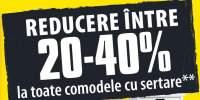 Reducere intre 20-40% la toate comodele cu sertare