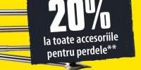 Reducere de 20% la toate accesoriile pentru perdele