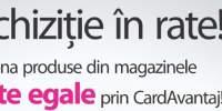 Oferta achizitie in rate CardAvantaj