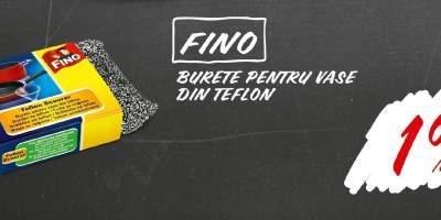 Burete pentru vase din teflon Fino