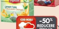 Ceai zmeura&afine/capsuni/fructe de padure/verde&portocale Lipton