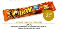 Baton de ciocolata cu arahide Lion